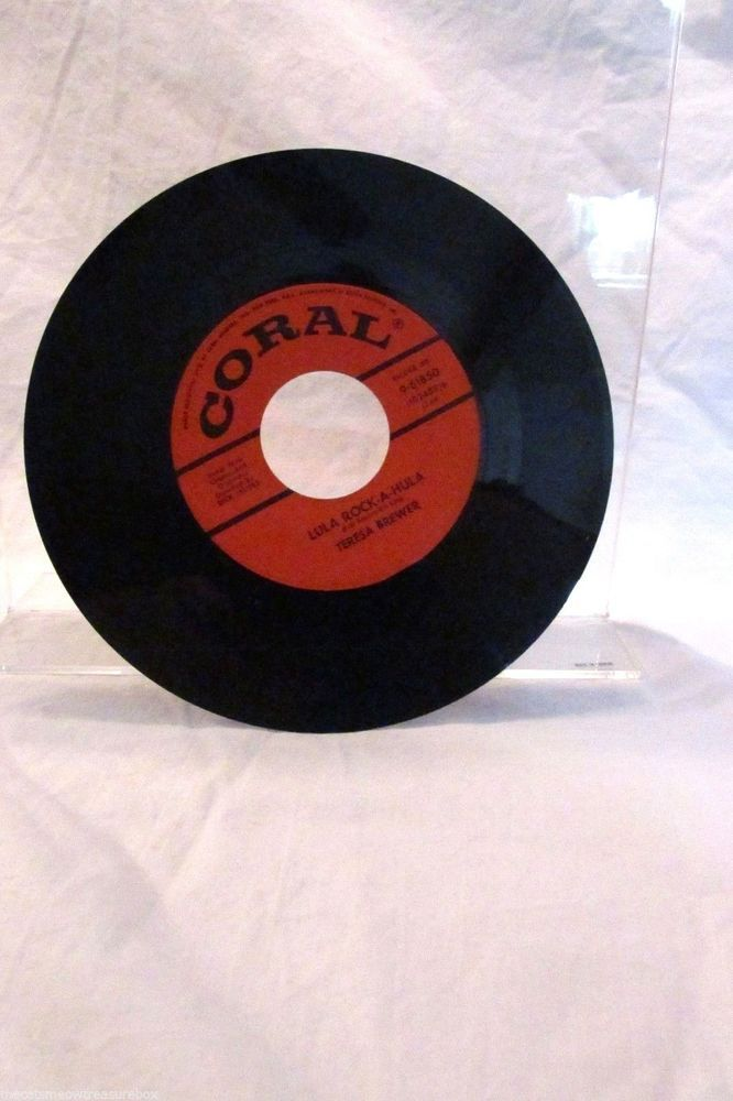 Teresa Brewer Lula Rock A Hula Teardrops In My Heart 45 rpm Coral Records 961850 #Rock