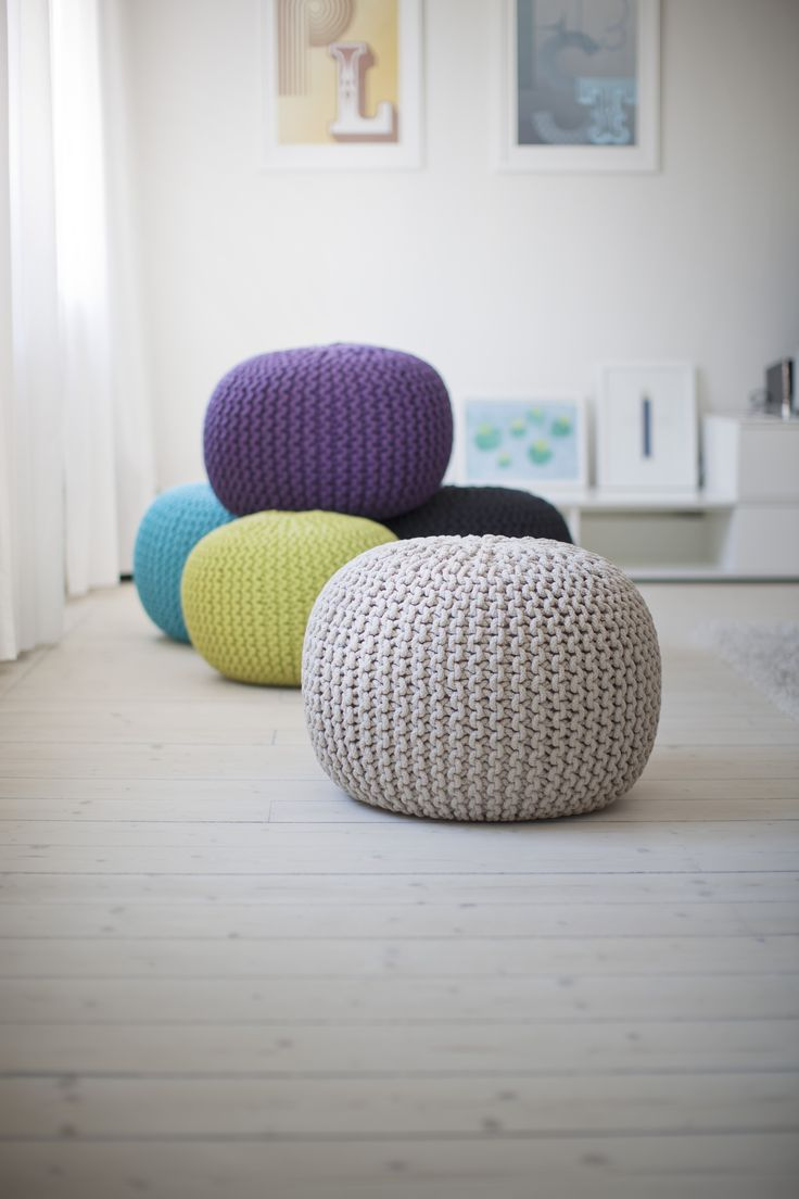 Knitted Pouffs from LOB design. www.lobdesign.se
