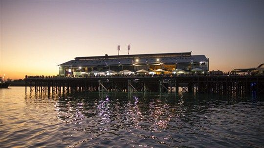 Try your luck at fishing from the comfort of Darwin's Stokes Hill Wharf – They even have dedicated fishing platforms and shaded seating areas for you to bring your own gear and try your luck.