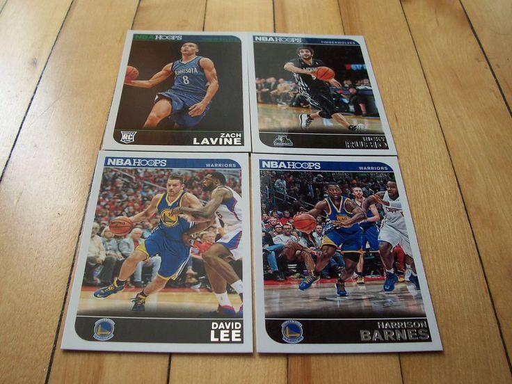 DAVID LEE ZACH LAVINE RC RICKY RUBIO HARRISON BARNES 2014-15 Hoops (4) Card Lot