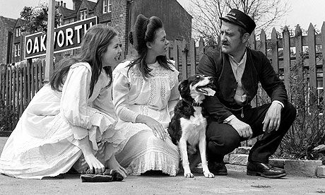 The Railway Children, with Bernard Cribbins, Sally Thomsett and Jenny Agutter, filmed at Oakworth Station in Yorkshire, 1970