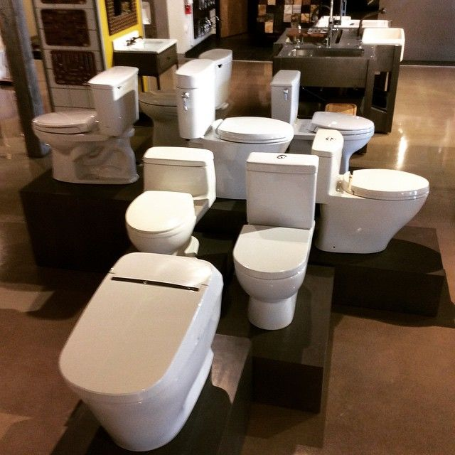 toto toilets on display in our central arizona supply phoenix showroom