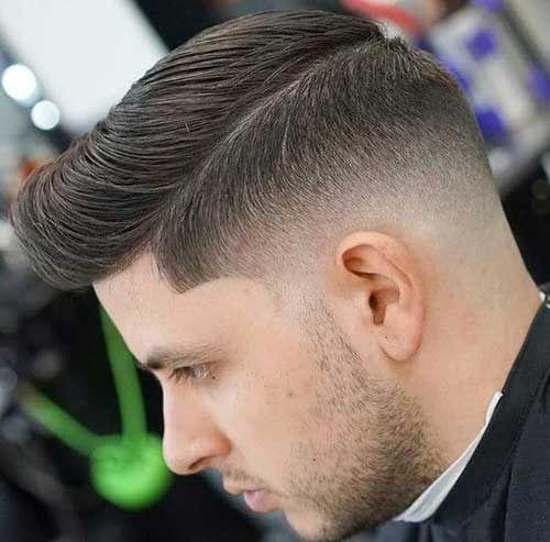 Drop Fade Pompadour - Low Skin Fade Haircut