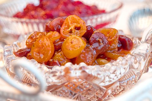 Two Thanksgiving Relishes – Kumquat & Dried Cherry Chutney and Cranberry-Orange Relish from @Lana Stuart | Never Enough Thyme http://www.lanascooking.com/2010/11/21/two-thanksgiving-relishes-kumquat-dried-cherry-chutney-and-cranberry-orange-relish/