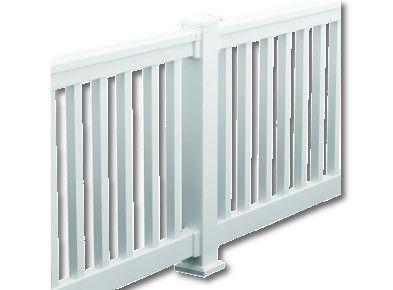 Fypon vinyl quickrail straight and stair kit 10ft rail kit for Fypon railing