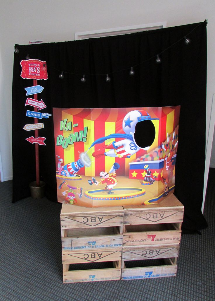 Circus theme party - Photo booth