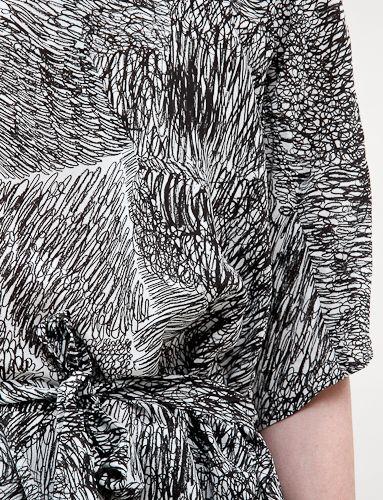 Scribble Print Dress - bold monochrome pattern fashion // Anntian