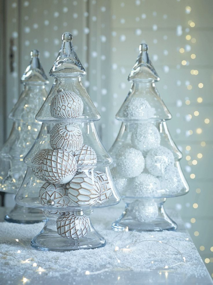 Etched Glass Christmas Ornaments