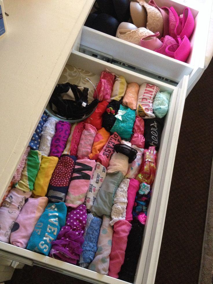 Bra & Underwear Organization! It makes me feel like I'm in Victoria's Secret every time it get dressed!