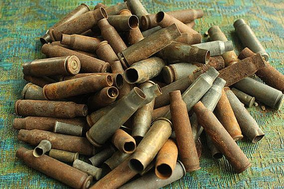 Half Pound of Empty Bullet Shell Casings  Big by ChristinesCache