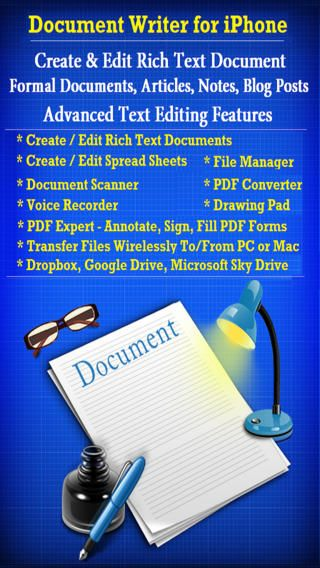 Document Writer  THE BEST DOCUMENT EDITING AND MANAGEMENT SUITE FOR IPHONE AND IPAD.