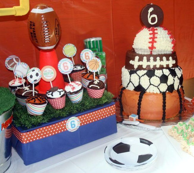 137 best Sports Theme Party Ideas images on Pinterest Sport