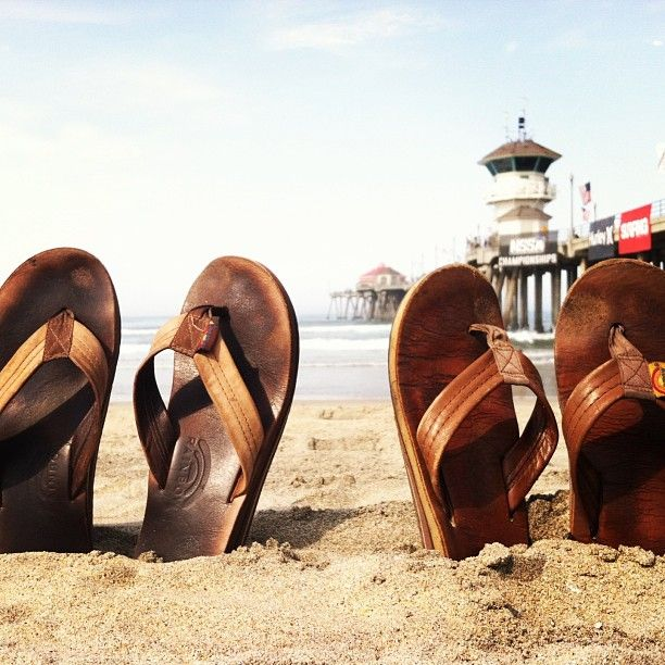Rainbow Sandals and the Huntington Beach Pier, Southern California