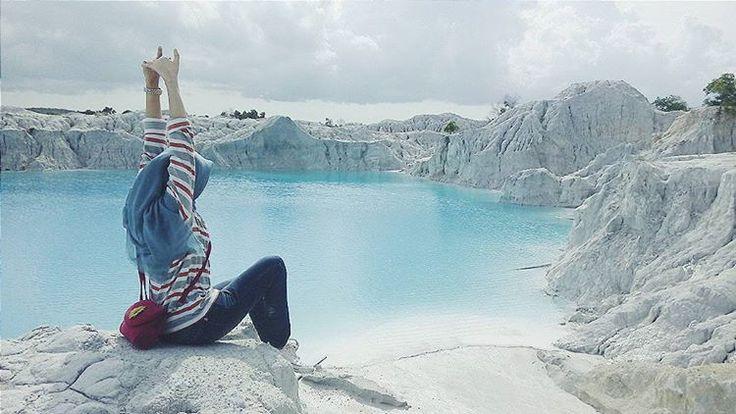 Danau Kaolin, Bangka. Sebuah danau cantik bekas penambangan timah #indonesiaworthit