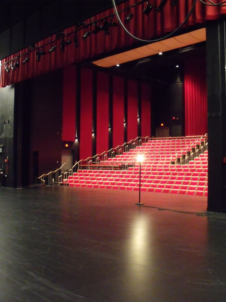 A view of our HUB International Theatre - from the wings!
