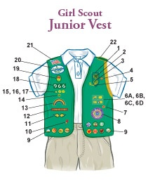 Insignia Placement Junior Vest #girlscouts