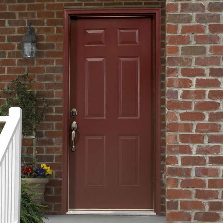 Red Front Door As Surprising Door Design For Modern Home: Some Day I'd Like To Paint Our Front Door A Burgandy Color