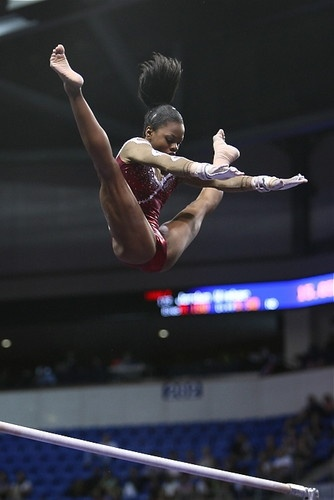 This is height!  Gabrielle Douglas   Nationals 2012  Credit: Heather Maynez