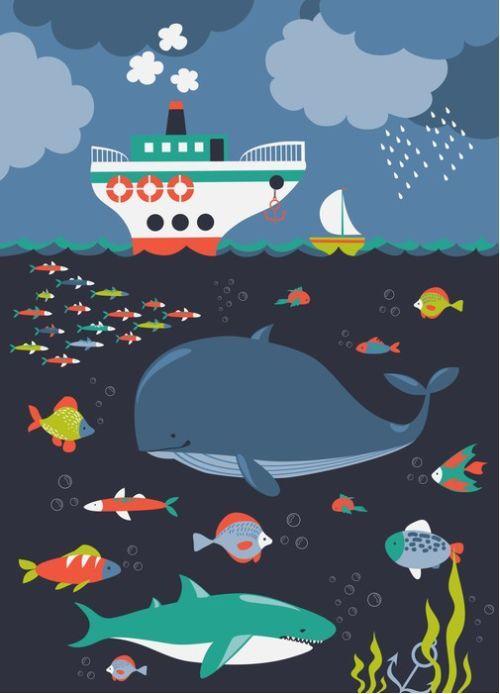 Under The Sea Art from $34.99 | www.wallartprints.com.au #UnderTheSeaArt #KidsWallArt