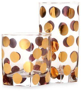 Cru Intl by Darbie Angell Monaco Gold Tumblers eclectic everyday glassware
