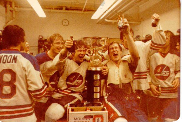 Jets dressing room after Championship win