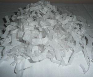 Making Shredded Tissue Paper as Gift Basket Filler