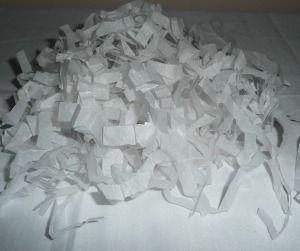 Making Shredded Tissue Paper as Gift Basket Filler