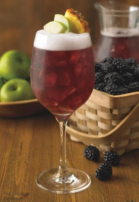 outback blackberry sangria- One pint of blackberries macerated with 1/2 cup of raspberry vodka 1 Bottle of Moscato wine 1.5 cups of pineapple juice. Add them all together and it taste just like the Outbacks!