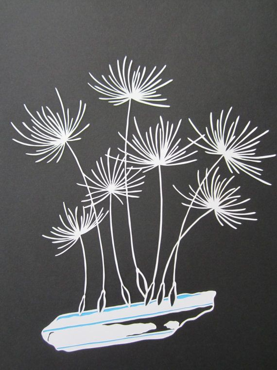 Magical Flower and Crystal Papercut Series 1  Dandelion by HybridJ