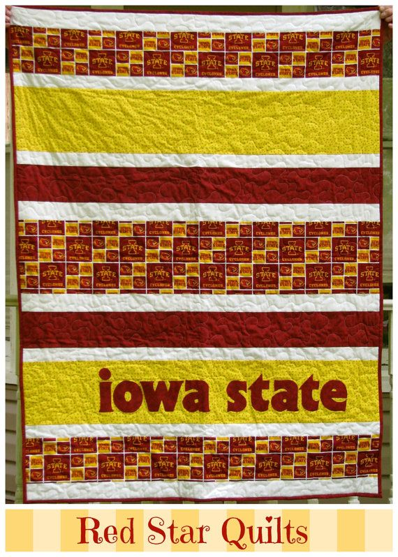 Iowa State Cylcone Baby Quilt by RedStarQuilts on Etsy, $110.00