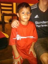 Liverpool FC's latest signing 7 yr old Naufal Alif Tristan. Check him out at http://theworldscout.wordpress.com/2012/09/12/naufal-alif-tristan/