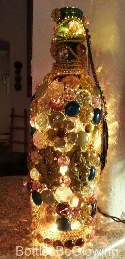 Awesome Aladdin inspired lighted bottle.