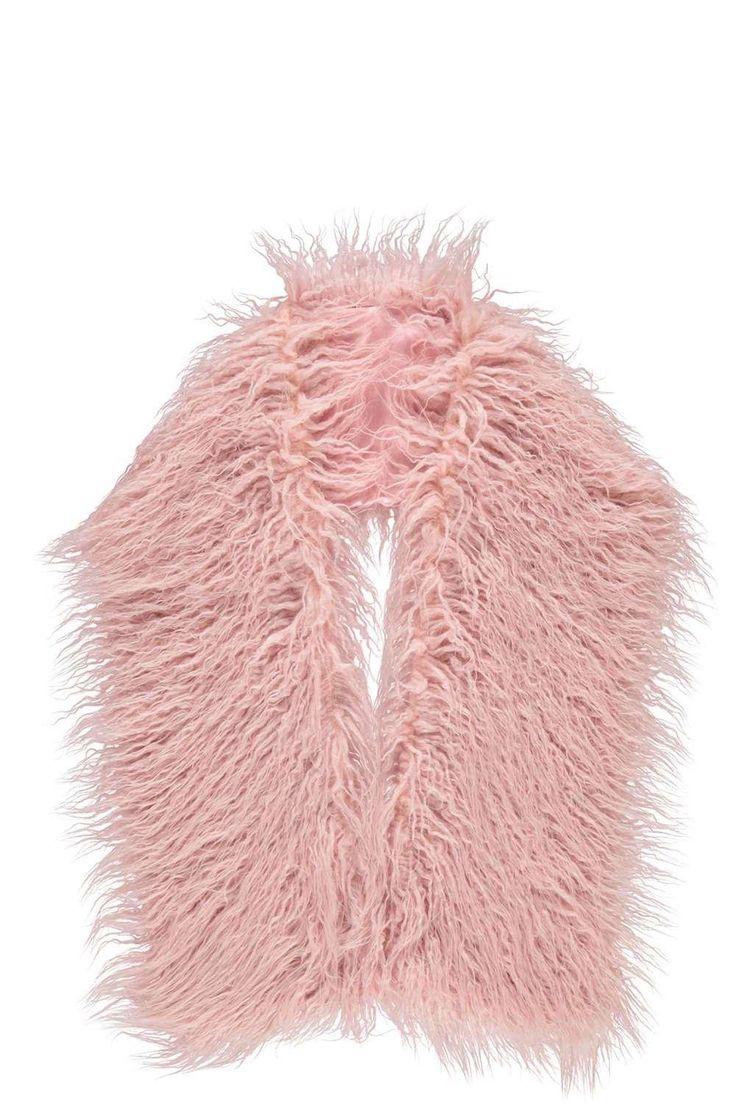 Emma Long Mongolian Faux Fur Scarf