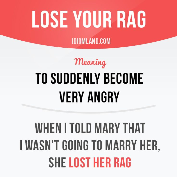 What really makes you lose your rag? #idiom #idioms #english #learnenglish #rag