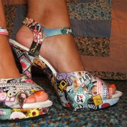 Decoupage shoes!: Crafts Ideas, Fun Shoes, Diy Crafts, Altered Shoes, Crafts Accesories, Amazing Shoes, Decoupage Shoes, Collage Shoes, Diy Decoupage