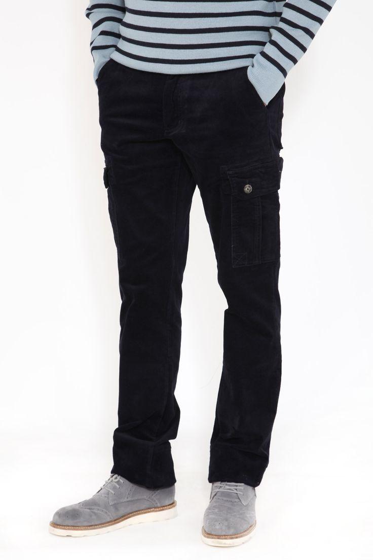 Pantalon velours homme coupe droite CARGO #pantalonvelours #modehomme