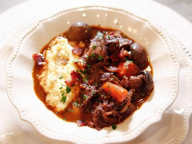 Get Burgundy Beef Stew Recipe from Food Network.....I will substitute wine for beef broth though