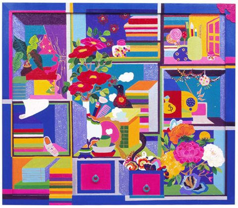 The Painting of Stationary or Writing Materials and Books.(Kim Ji-Hye)