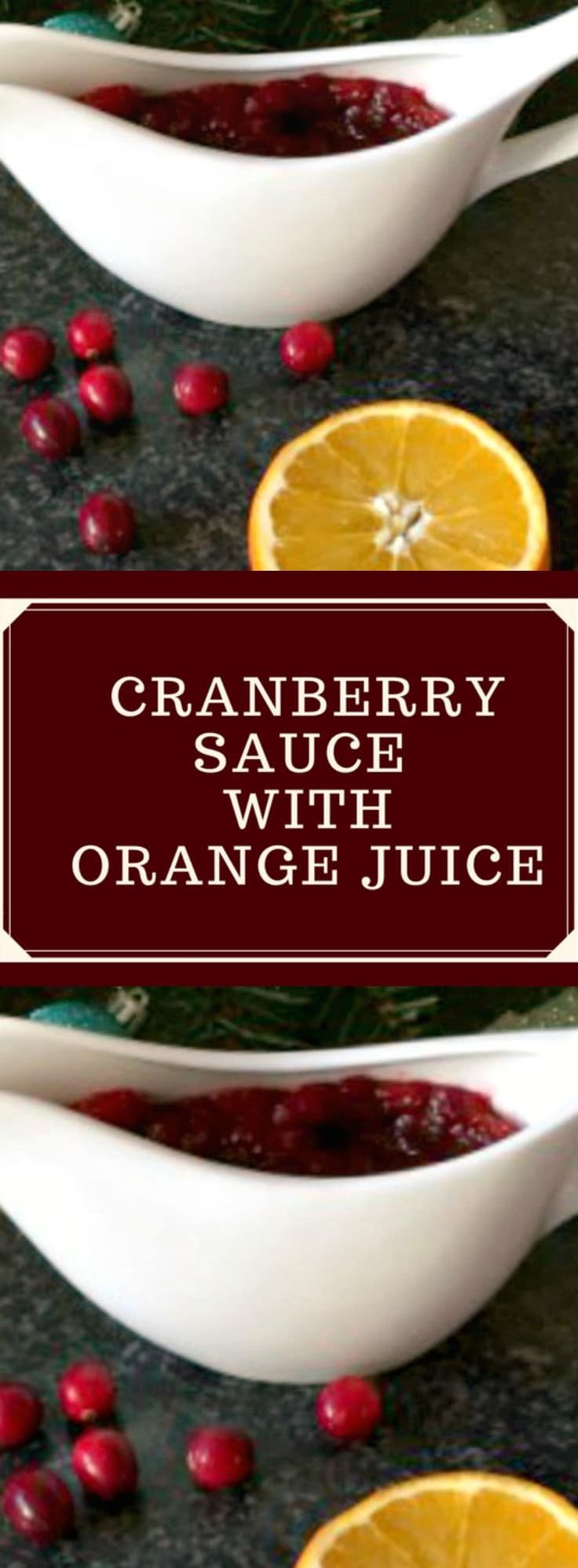 Homemade cranberry sauce with orange juice, the best sauce to serve with your Thanksgiving or Christmas turkey. Ready in just 10 minutes.