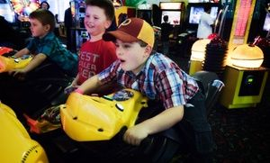 Kids spend time on more than 20 rides and playing 100 arcade games, from bumper cars to air hockey to ticket and prize games