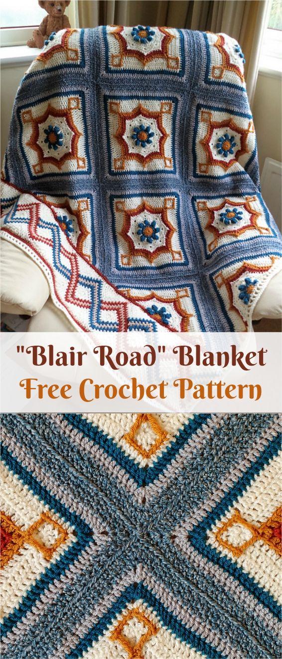 Blair Road Blanket [Free Crochet Pattern] | Patterns Valley