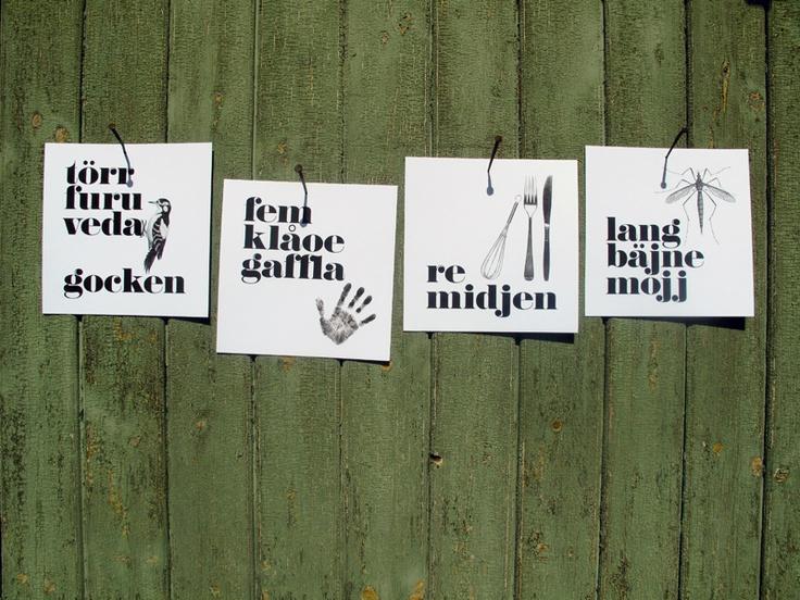 pijtmåle – a celebration of beautiful words: Postcards 18x18 cm.