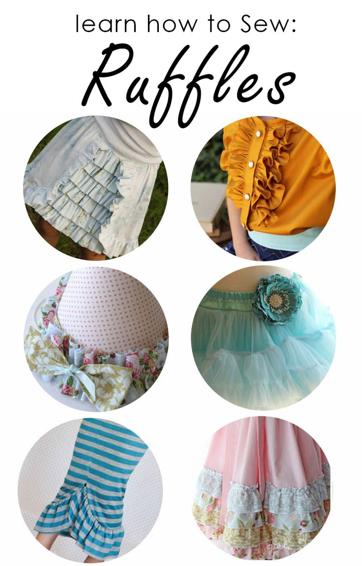 How to Sew a Ruffle - Four different Ways!!