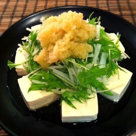 ヤバイ、ヤバイ、、、 ダイエットしなきゃ!σ(^_^;) - 72件のもぐもぐ - 自家製ノンオイルドレッシングで頂く豆腐サラダ by mikachi