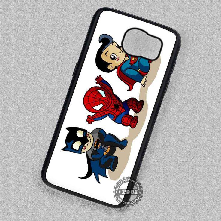 Funny Spiderman Superman Batman Cartoon - Samsung Galaxy S7 S6 S5 Note 7 Cases & Covers