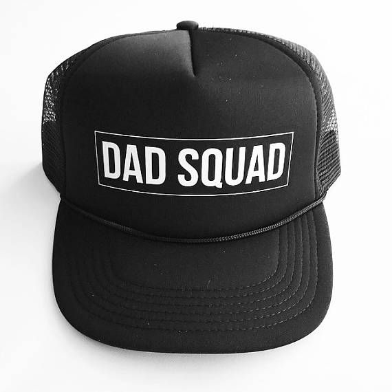 Black Dad Squad Trucker Hat