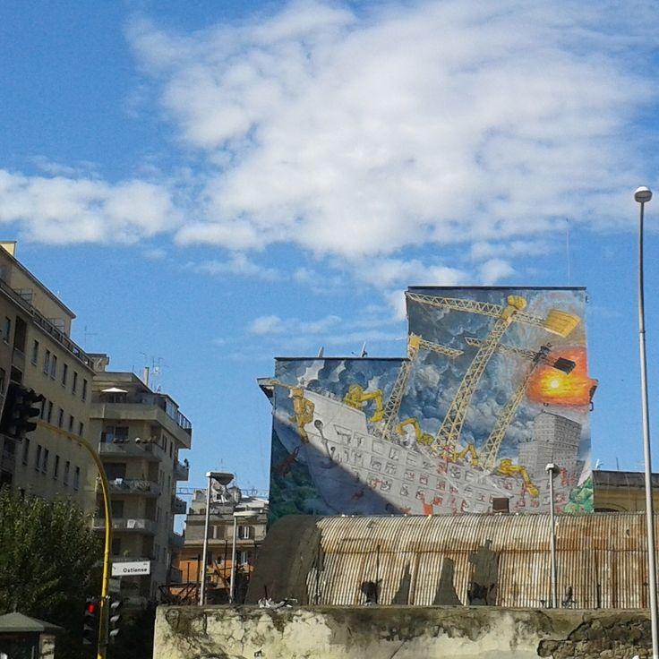 24/2/2015 nubesviajeras.com Otra visión de #Roma #italy #viajes #travel #aroundtheworld #1fotoaldía #picoftheday #Streetart #Nubesviajeras