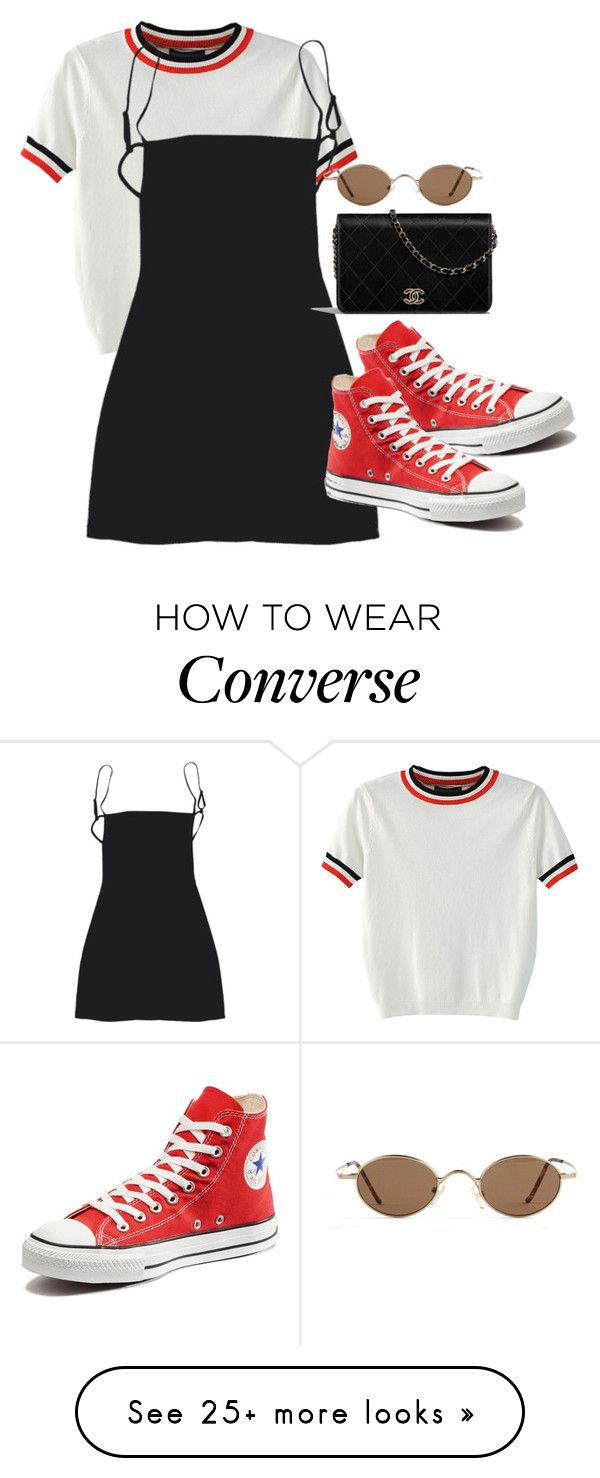 """""""Sans titre #924"""" by el-khawla on Polyvore featuring WithChic and Converse"""