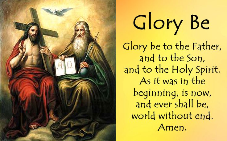 Glory Be Glory be to the Father, and to the Son, and to the Holy Spirit. As it was in the beginning, is now, and ever shall be, world without end. Amen. #ChooseToBeBrave #YearOfTheLaity #Catholic #Catholicism #Christianity#Christian...