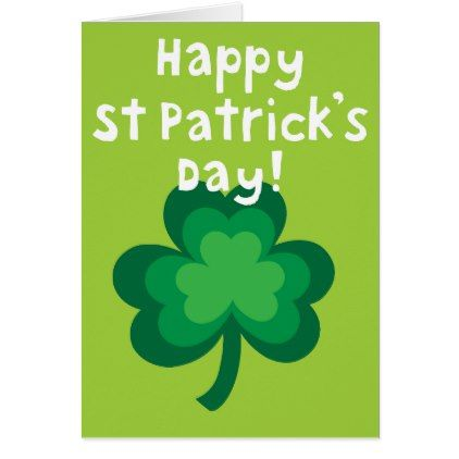 Happy St. Patricks Day Card - st patricks day gifts Saint Patrick's Day Saint Patrick Ireland irish holiday party